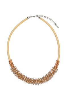 Facet Cord Tube Necklace