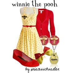 Winnie the Pooh by princesschandler on Polyvore featuring Myrtlewood, Autumn Cashmere, Wet Seal, Disney Couture, Fornash and Alice + Olivia