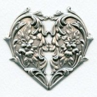 stampings plated silver (4) - VintageJewelrySupplies.com