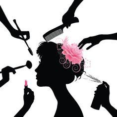 in a beauty salon. Black silhouettes of beautiful woman in a beauty salon ,Woman in a beauty salon. Black silhouettes of beautiful woman in a beauty salon , Beauty Salon Logo, Beauty Salon Decor, Hair And Beauty Salon, Schönheitssalon Logo, Kerastase, Salon Art, Beauty Packaging, Salon Design, Nail Spa