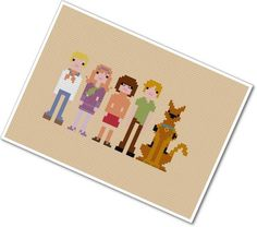 The *Original* Pixel People - Scooby Doo, Where Are You - PDF Cross Stitch Pattern - INSTANT DOWNLOAD by weelittlestitches on Etsy https://www.etsy.com/listing/63406280/the-original-pixel-people-scooby-doo