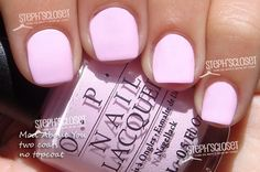 cute light pink nails