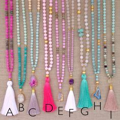 Love's Affect Summer Necklaces by LovesAffect on Etsy