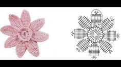 Patrones de Flores tejidas a crochet