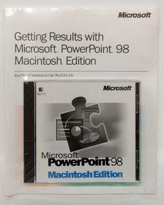 Microsoft PowerPoint 98 Macintosh MAC OS edition Apple CD-ROM new sealed manuals