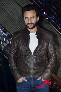 Saif Ali Khan on the sets of India's Raw Star