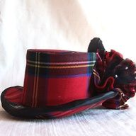 Tartan hat I once had a hat just like this in black watch tartan. I loved it.