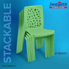 Stackable monoblock #chairs from Swagath is moulded in virgin polypropylene and are available in different colors. Visit us at www.swagath.co for more information!!