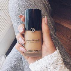 «I use the Giorgio Armani Luminous Silk Foundation in the shade You can wear it as a light weight foundation or a more full coverage foundation… Eye Makeup Tips, Mac Makeup, Skin Makeup, Makeup Cosmetics, Beauty Makeup, Makeup Products, Makeup Eyeshadow, Pretty Makeup, Love Makeup