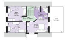 Rzut Dom przy Alabastrowej 2 CE Floor Plans, Floor Plan Drawing, House Floor Plans