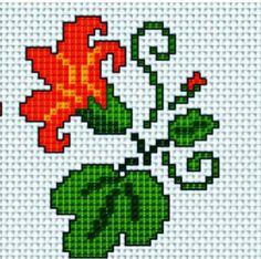 Flower x-stitch pattern