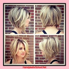 Stacked Bob Hairstyles For Women, With a couple styling tricks you're able to transform the medium hairstyles in various styles. The medium hairstyles are a rather excellent alternate . Short Hair Cuts For Round Faces, Round Face Haircuts, Short Hair With Layers, Hairstyles For Round Faces, Bob Haircut For Round Face, Hair Layers, Hairstyle For Round Face Shape, Short Hair For Round Face Double Chin, Round Face Bob
