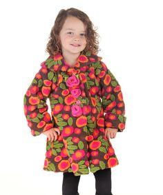 Mack /& Co Little Girls Double Breasted Reversible Fleece Coat