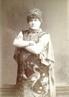 An image of a Victorian strong woman from Linley Sambourne's image library at 18 Stafford Terrace, London.