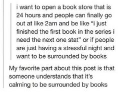 24 hour bookstores. Located: everywhere