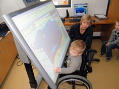 Cool!  The satalight is a highly adjustable SMART Board designed for individuals with disabilities, bringing interactive learning into the hands of those who are physically or mentally challenged. The satalight is the benchmark for all other interactive whiteboards designed for the assistive technology user.