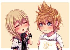 "seraphily: """"""i wanted to meet you at least once."" roxas and naminé & role reversal! from my twitter! "" """