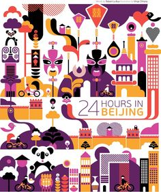 #Beijing #China http://en.directrooms.com/hotels/subregion/1-12-58/ (World City Illustration by Vinay Chhana)
