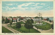 1924 PPC View of Conneaut Lake Park Pennsylvania