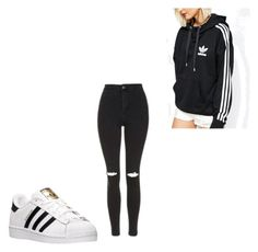 """""""Untitled #404"""" by deisy-santos on Polyvore featuring adidas and Topshop"""