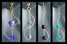 Zig-Zag Wire and Beads Earrings jewelry making project