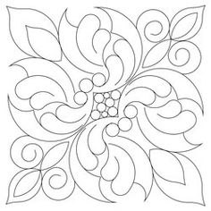 Shop | Category: Blocks | Product: Victorian Feather 9 inch Block