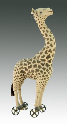 Steiff Giraffe on Cast Iron Wheels