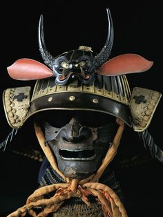 wasbella102:    Samurai mask and helmet on display at the Osaka Castle Museum