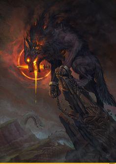 Мифические существа :: Fantasy (Fantasy art) :: art (арт) :: Ёрмунганд :: baklaher :: Fenrir :: красивые картинки / красивые картинки и арты, гифки, прикольные комиксы, интересные статьи по теме.