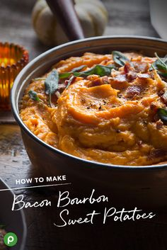 Make sweet potatoes even more delicious with a little bacon and bourbon. See this Publix recipe for your family's new favorite Thanksgiving side.