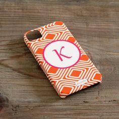 Custom iPhone 4/4S Case in Orange Diamond. Clairebella