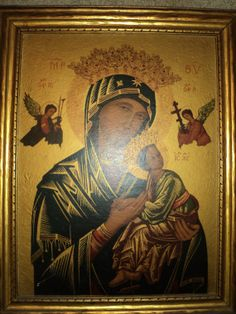 ANTIQUE LITHOGRAPHIC PRINT of Our Lady of Perpetual help by RRGS, $500.00