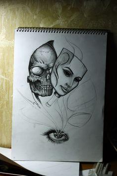 hiding behind a mask art - Google Search