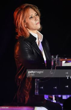 Yoshiki of XJapan performs during the Miss International x YOSHIKI Charity Gala 2015 at the Happo-en on October 23, 2015 in Tokyo, Japan.
