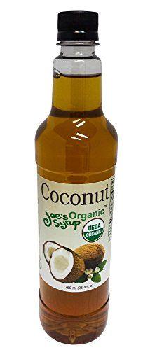 Joe's Syrup Organic Flavored Syrup, Organic Hazelnut, 750 ml Coconut Drinks, Coconut Water, Coconut Milk, Bpa Free Bottles, Italian Coffee, Coconut Cream, Coffee Drinks, Syrup, Beverages