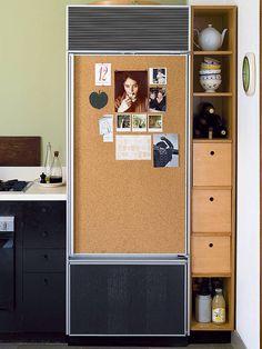 cork walls cork on refrigerator door