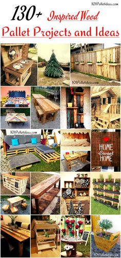 130+ Inspired Wood Pallet Projects | 101 Pallet Ideas - Grab here the incredibly genius ways to reuse whole #pallets wood skid for bigger projects and furniture for home!