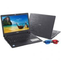 "Notebook CCE U45L Intel Dual Core 847 1.1 GHz - 4GB 500GB LED 14"" Placa de Vídeo 1720MB"