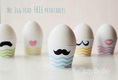 Itsy Belle: {FREEBIES} Mr. Egg Head Easter Printables
