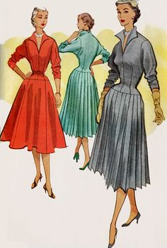 1950s McCalls 9108 Misses ROCKABILLY Dress with by sandritocat, $24.00
