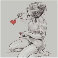 Discovered by J u Find images and videos about girl art and red on We Heart It - the app to get lost in what you love Girl Drawing Sketches, Girly Drawings, Art Drawings Sketches Simple, Pencil Art Drawings, Love Drawings, Drawing Art, Tumblr Sketches, Couple Drawings, Beautiful Drawings