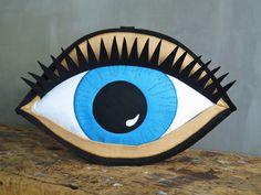 Handmade , Shoulder Bag , Handbag , Box , 3 in 1 , Home Decor - Black Bag with Blue Eye by KatUniquedoll on Etsy https://www.etsy.com/listing/192238994/handmade-shoulder-bag-handbag-box-3-in-1