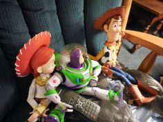 """Scene where Buzz gets knocked out the window. Woody: """"OH NO! No! We are NOT watching this scene! Can we skip it? PLEASE!! Please, Buzz! Skip it!"""""""