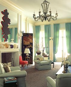 Mint Living Rooms, Classy Living Room, Living Room Drapes, Living Room Decor Country, French Country Living Room, Living Room Green, Bedroom Green, Beautiful Living Rooms, Bedroom Curtains
