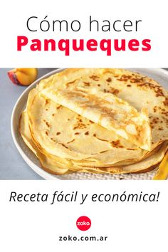 Delicious Desserts, Yummy Food, Tasty, Crepes, Cake Receipe, Argentina Food, Chilean Recipes, Pan Dulce, Muffins