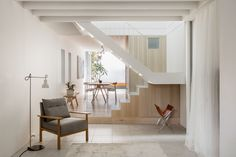 Custom open-wall staircases are fast becoming a favorite feature of ultramodern interiors, the sharp engineering and artful construction bringing beauty to an o