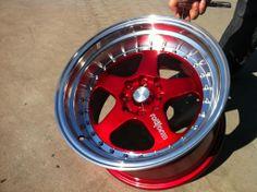 vintage 4x100 wheels | 15x9 offset 20 4x100 16x9 offset 20 5x100 4x100 candy red w machine ...