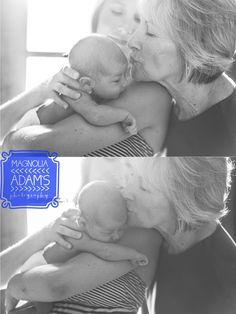 Grandma, mom and baby   Newborn Pics   Photographers For Oklahoma   Magnolia Adams Photography