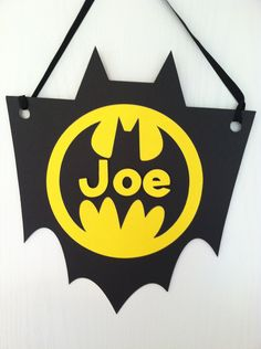 Batman Birthday Sign- might just make this to hang in his door! So cute!