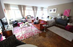 Living in a shoebox | House tour: Nikki Rapport's girly studio apartment